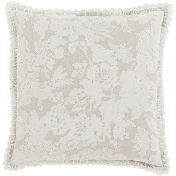 Rhinelander 100% Linen Throw Pillow Cover by Three Posts
